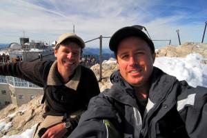 Matt Johanson and Dan Johanson atop the highest peak in Germany.