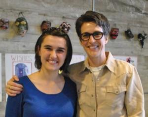Olympian editor Anna Balassone interviewed political commentator Rachel Maddow.