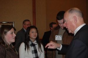 Journalism students meet Gov. Jerry Brown.